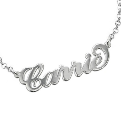 """Sterling Silver """"Carrie"""" Name Bracelet / Anklet - By The Name Necklace;"""
