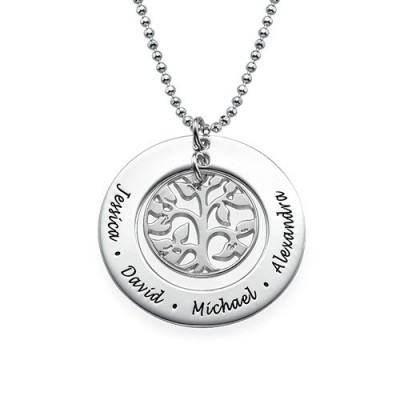 Silver Family Tree Necklace - By The Name Necklace;