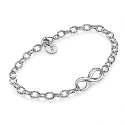 Sterling Silver Infinity Bracelet/Anklet - By The Name Necklace;