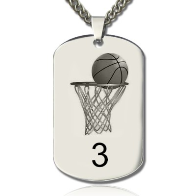 Basketball Dog Tag Name Necklace - By The Name Necklace;