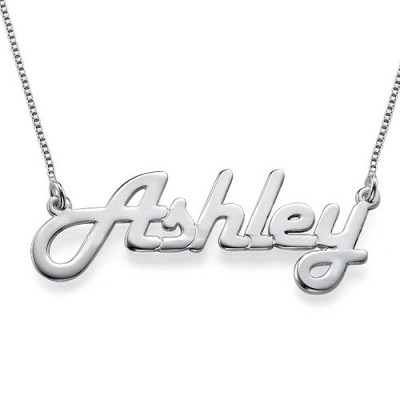 Stylish Silver Name Necklace - By The Name Necklace;