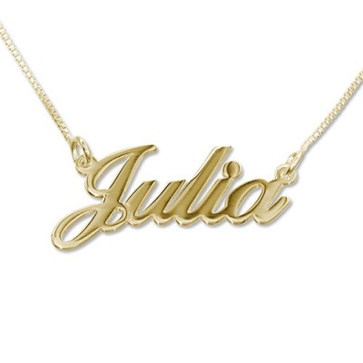 Small 18ct Gold-Plated Silver Classic Name Necklace - Handcrafted By My Engraved™