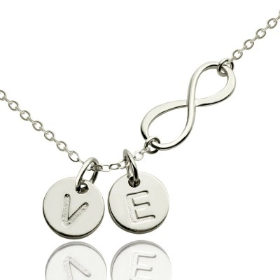 Custom Infinity Initial Necklace,Sister Necklace,Friend Necklace - By The Name Necklace;