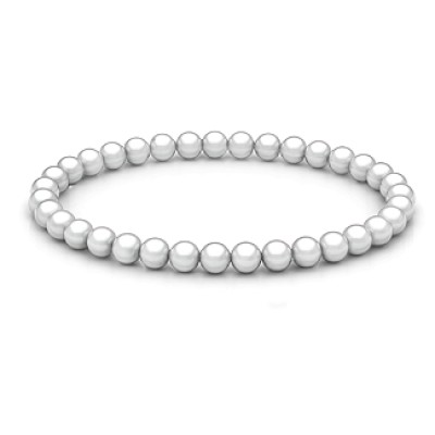Personalised Freshwater Pearl Stretch Bracelet - By The Name Necklace;