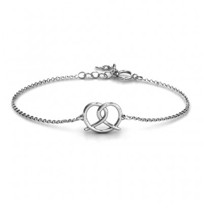 Personalised Love Knot Bracelet - By The Name Necklace;