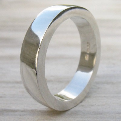 Handmade Chunky Mens Silver Ring - By The Name Necklace;