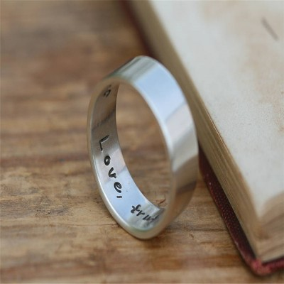 Pure And Simple Personalised Mens Ring - By The Name Necklace;