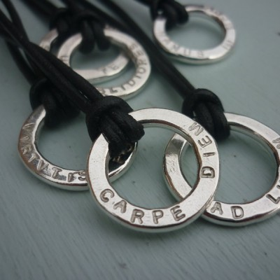 Unisex Silver Halo Necklace - By The Name Necklace;