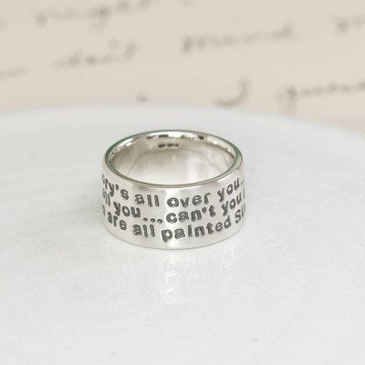Personalised Sterling Silver Message Ring - By The Name Necklace;