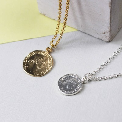 Coin Necklace - By The Name Necklace;