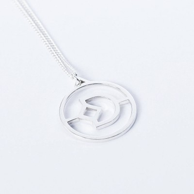 Personalised Crux Initial Necklace - By The Name Necklace;