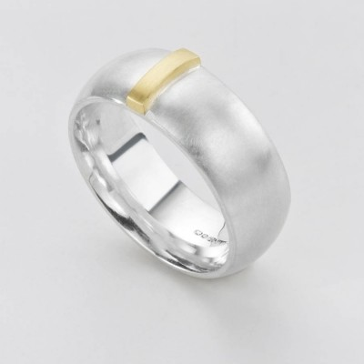 Linear Ring - By The Name Necklace;