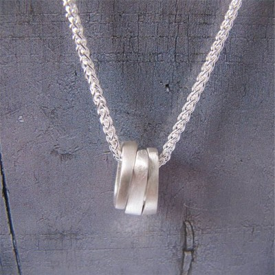 Infinity Three Ovals Stacks Necklace - By The Name Necklace;