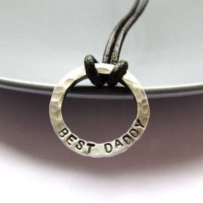 Mini Personalised Dad Necklace - By The Name Necklace;