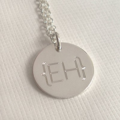 Modern Monogram Parentheses Necklace - By The Name Necklace;