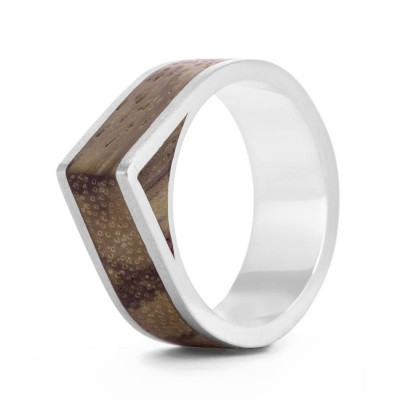 Wood Ring Native Edge - By The Name Necklace;