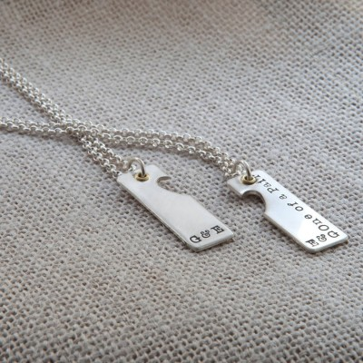 A Pair Necklace - By The Name Necklace;