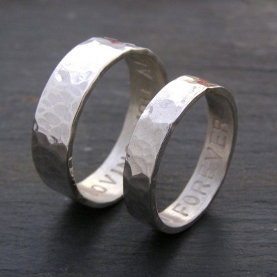 Personalised His And Hers Rings - By The Name Necklace;