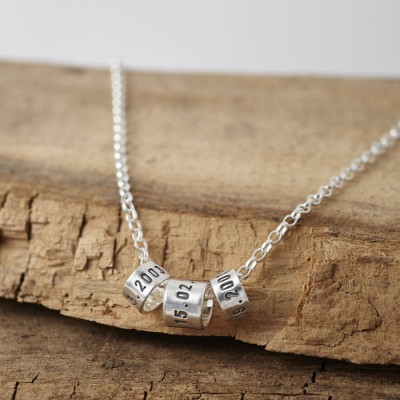 Personalised Mens Silver Storyteller Necklace - By The Name Necklace;