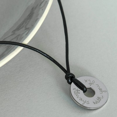 Personalised Mens Sterling Silver Open Disc Necklace - By The Name Necklace;