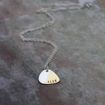Personalised Plectrum Necklace - By The Name Necklace;