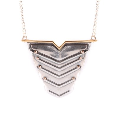 Romeo Necklace Rose Gold Vermeil And Silver - By The Name Necklace;