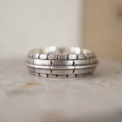 Roof Silver Ring - By The Name Necklace;